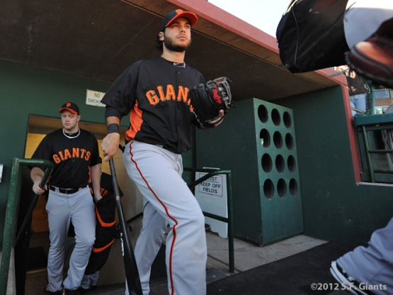 Seth Rosin, Brandon Crawford, Spring Training, S.F. Giants, San Francisco Giants