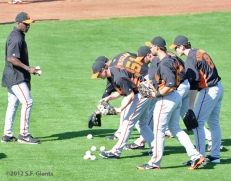 S.F. Giants, San Francisco Giants, Spring Training, Team, photo