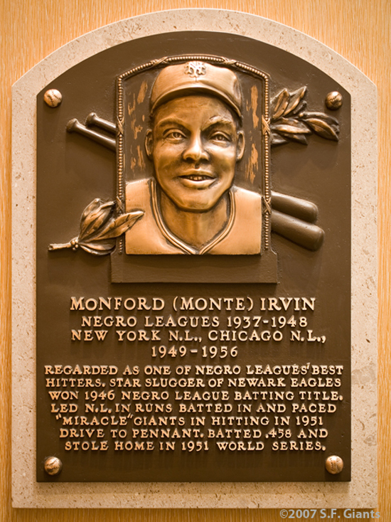 Monte Irvin, New York Giants, NY Giants, Hall of Fame