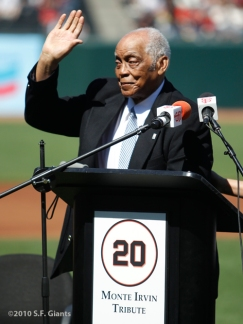 Monte Irvin, S.F. Giants, San Francisco Giants, NY Giants, New York Giants