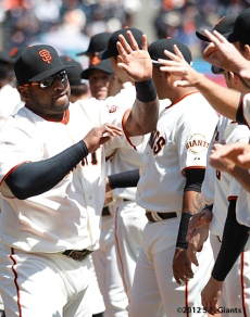 S.F. Giants, San Francisco Giants, 2012, Photo, Opening Day, Pablo Sandoval