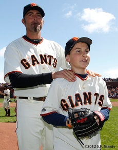 S.F. Giants, San Francisco Giants, 2012, Photo, Opening Day, Jeremy Affeldt