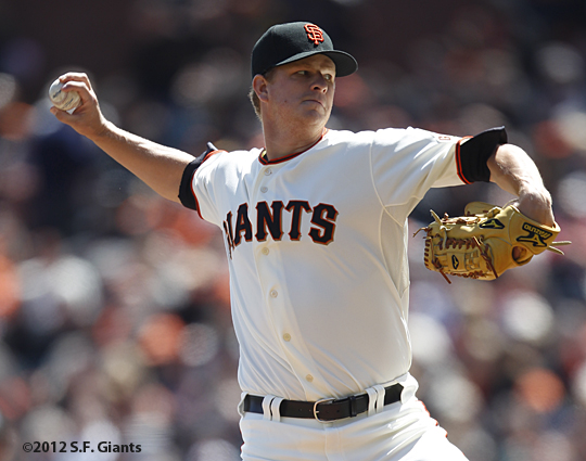 S.F. Giants, San Francisco Giants, Photo, 2012, Matt Cain