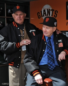 S.F. Giants, San Francisco Giants, 2012, Photo, Opening Day, Jim Davenport, Alvin Dark