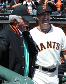 S.F. Giants, San Francisco Giants, 2012, Photo, Opening Day, Mike McCormick, Barry Zito