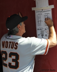 S.F. Giants, San Francisco Giants, Photo, 2012, Ron Wotus
