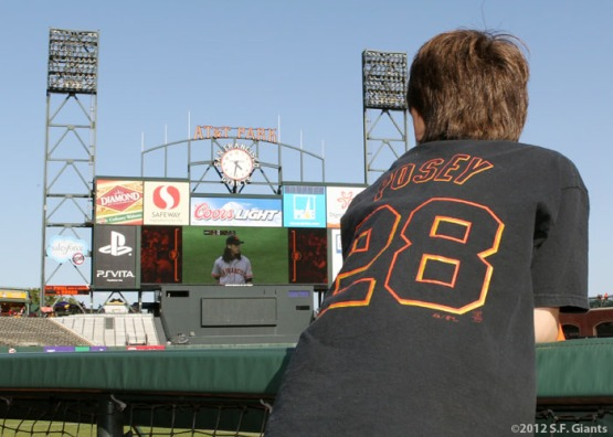 S.F. Giants, San Francisco Giants, Photo, Fans, AT&T Park, Opening Day 2012