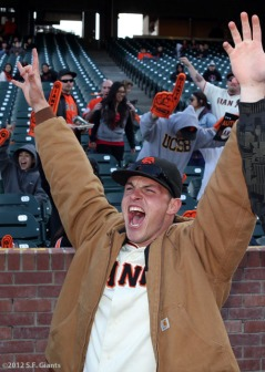 S.F. Giants, San Francisco Giants, Photo, Fans, AT&T Park, 2012 Opening Day