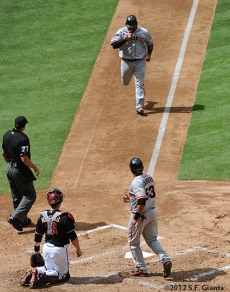 S.F. Giants, San Francisco Giants, Photo, 2012, Pablo Sandoval, Melky Cabrera