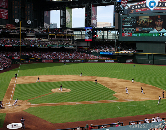 S.F. Giants, San Francisco Giants, 2012, Photo, Chase Field