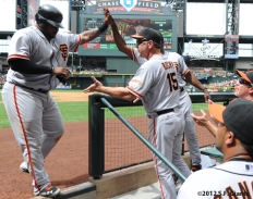 S.F. Giants, San Francisco Giants, 20120, Photo, Pablo Sandoval, Bruce Bochy