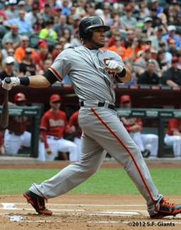 S.F. Giants, San Francisco Giants, 20120, Photo, Melky Cabrera