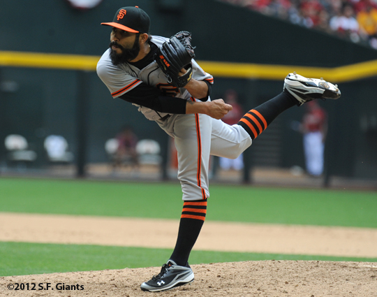 S.F. Giants, San Francisco Giants, 20120, Photo, Sergio Romo