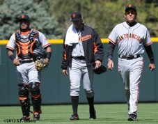 S.F. Giants, San Francisco Giants, 2012, Photo, Barry Zito, Dave Righetti, Hector Sanchez