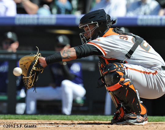 S.F. Giants, San Francisco Giants, Photo, 2012, Hector Sanchez