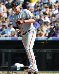 S.F. Giants, San Francisco Giants, 2012, Photo, Aubrey Huff