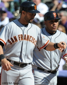 S.F. Giants, San Francisco Giants, Photo, 2012, Angel Pagan