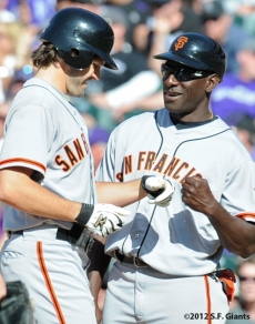 S.F. Giants, San Francisco Giants, 2012, Photo, Barry Zito, Roberto Kelly