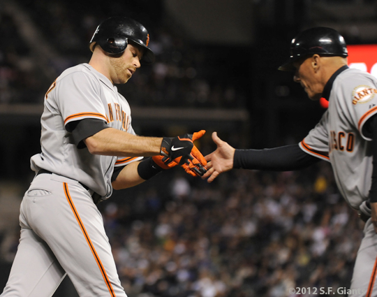 S.F. Giants, San Francisco Giants, Photo, 2012, Nate Schierholtz