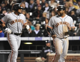 S.F. Giants, San Francisco Giants, Photo, 2012, Melky Cabrera, Pablo Sandoval