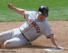 Ryan Theriot, S.F. Giants, San Francisco Giants, Photo, 2012