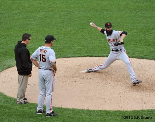 S.F. Giants, San Francisco Giants, Photo, 2012, Brian Wilson, Bruce Bochy, Dave Groeschner