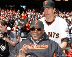 S.F. Giants, San Francisco Giants, 2012, Opening Day, 1962 Team Reunion, Willie McCovey, Javier Lopez