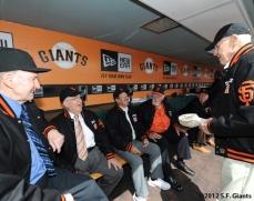 S.F. Giants, San Francisco Giants, 2012, Opening Day, 1962 Team Reunion, Alvin Dar, Lon Simmons, Gaylord Perry, Ernie Bowman, Billy Pierce