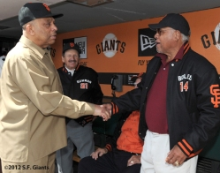 S.F. Giants, San Francisco Giants, 2012, Opening Day, 1962 Team Reunion, Orlando Cepeda, Carl Boles