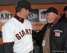 S.F. Giants, San Francisco Giants, 2012, Opening Day, 1962 Team Reunion, Mark Gardner, Jim Davenport