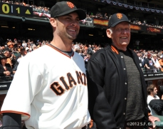 S.F. Giants, San Francisco Giants, 2012, Opening Day, 1962 Team Reunion, Ryan Vogelsong, Don Larsen