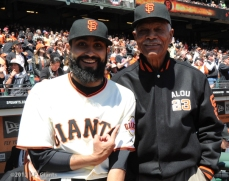 S.F. Giants, San Francisco Giants, 2012, Opening Day, 1962 Team Reunion, Sergio Romo, Felipe Alou