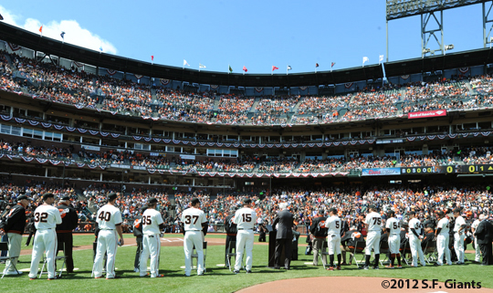 S.F. Giants, San Francisco Giants, 2012, Photo, 1962 Team Reunion