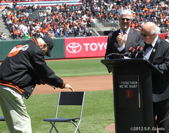 S.F. Giants, San Francisco Giants, 2012, Opening Day, 1962 Team Reunion, Lon Simmons, Mike Krukow, Jon Miller
