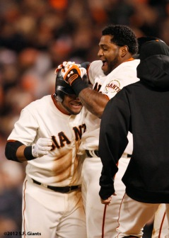 San Francisco Giants, S.F. Giants, photo, 2012, Melky Cabrera, Pablo Sandoval