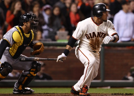 San Franciso Giants, S.F. Giants, photo, 2012, Melky Cabrera