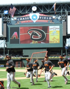 S.F. Giants, San Francisco Giants, Photo, Team, 2012 Opening Day