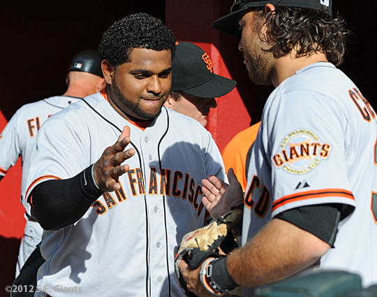 S.F. Giants, San Francisco Giants, Photo, Pablo Sandoval, Brandon Crawford