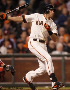 S.F. Giants, San Francisco Giants, 2012, Photo, Nate Schierholtz