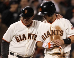 S.F. Giants, San Francisco Giants, 2012, Photo, Tim Flannery, Buster Posey