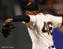 S.F. Giants, San Francisco Giants, 2012, Photo, Santiago Casilla