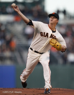 S.F. Giants, San Francisco Giants, 2012, Photo, Matt Cain