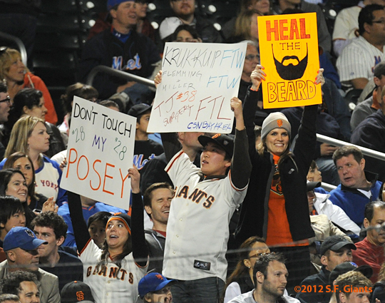 S.F. Giants, San Francisco Giants, 2012, fans, photo