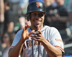 S.F. Giants, San Francisco Giants, 2012, Photo, Emmanual Burriss