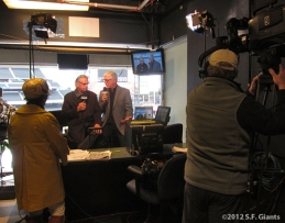 S.F. Giants, San Francisco Giants, Photo, 2012, Duane Kuiper, Mike Krukow, Alma Lynch