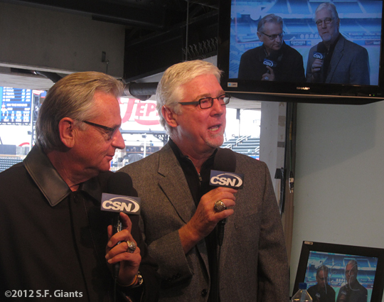 S.F. Giants, San Francisco Giants, Photo, 2012, Duane Kuiper, Mike Krukow