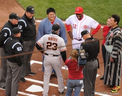 Ron Wotus, Dusty Baker, S.F. Giants, San Francisco, photo, 2012