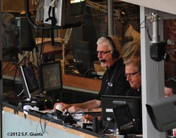 mike krukow, duane kuiper, s.f. giants, san francisco giants, 2012, photo