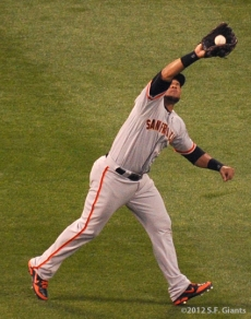 S.F. Giants, San Francisco Giants, 2012, Photo, Melky Cabrera