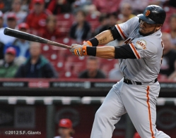 S.F. Giants, San Francisco Giants, photo, 2012, Melky Cabrera